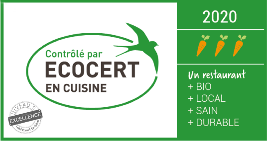 Certifié par Ecocert en cuisine